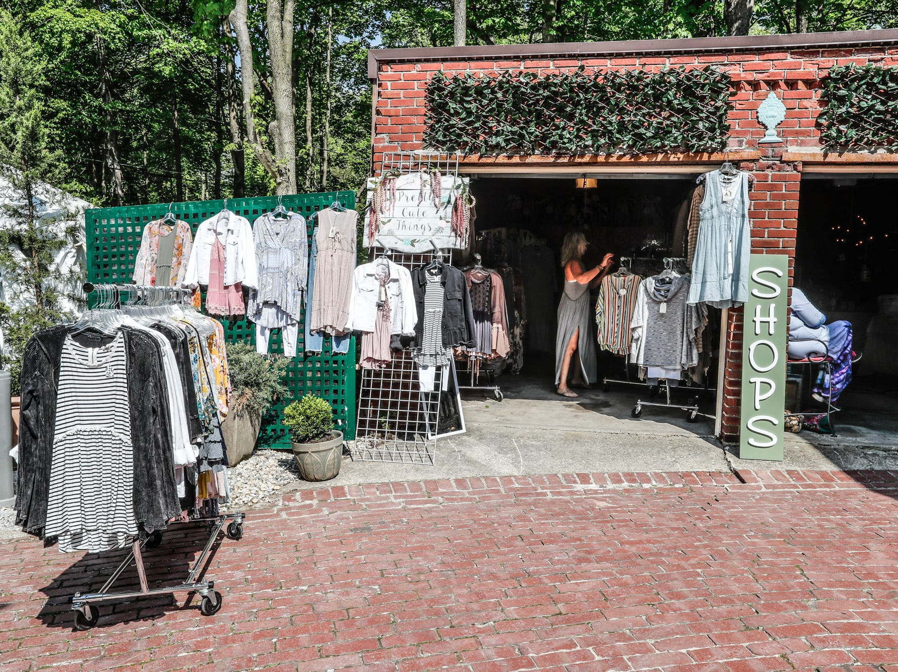 The Pretty Cute Things pop up shop located, in the rear of the 58th annual St. Margaret's Hospital Guild Decorators' Show House and Gardens, located at 4160 Washington Blvd., Indianapolis, on Wednesday, May 8, 2019.