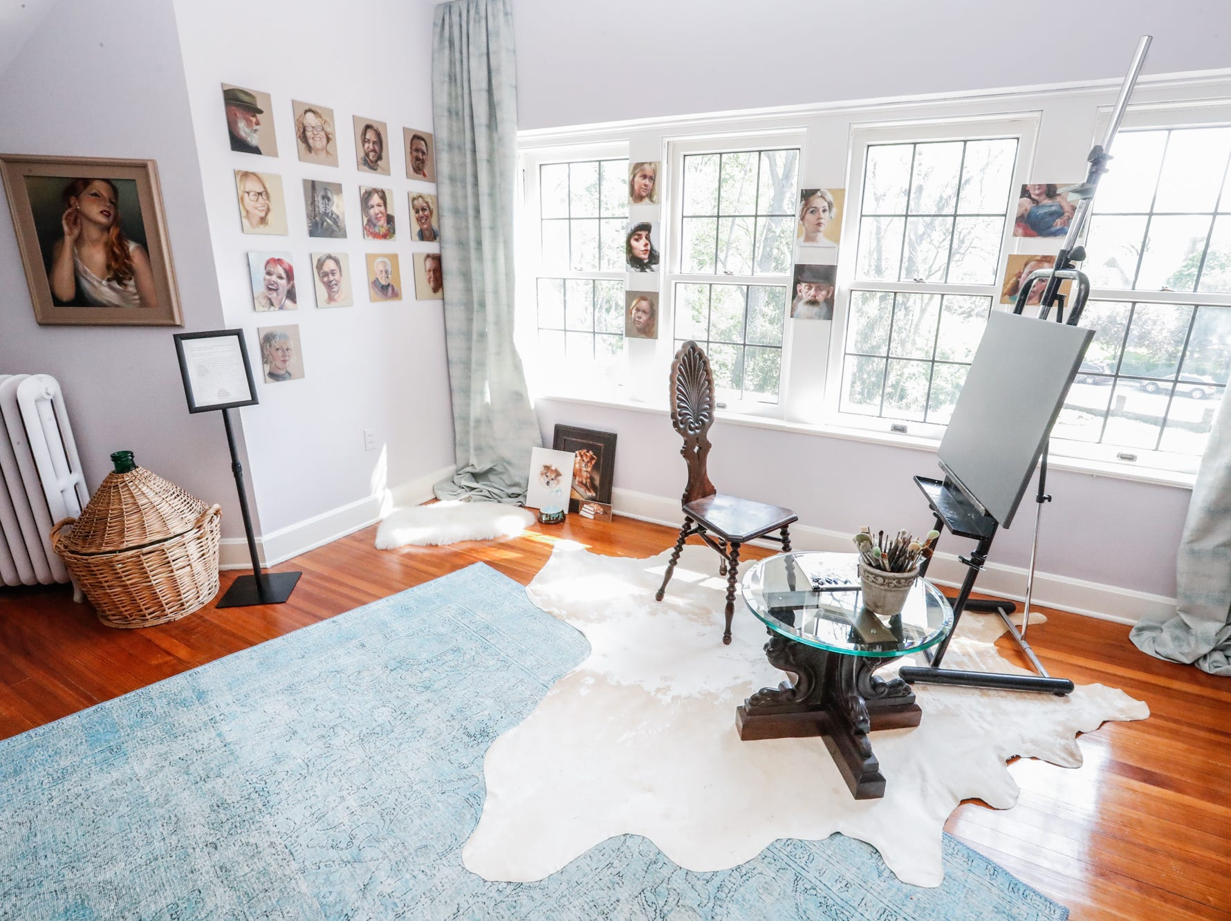 """The """"Artists Loft"""", designed by Tom Karecki and Jerald Faulstich, of Thomas an Jayne Interior Design, inside The 58th annual St. Margaret's Hospital Guild Decorators' Show House and Gardens, located at 4160 Washington Blvd., Indianapolis, on Wednesday, May 8, 2019."""