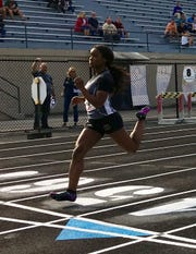 Brebeuf Jesuit's Semira Killebrew won the 100 meters at Tuesday's Marion County meet with the fastest time in the state this year.