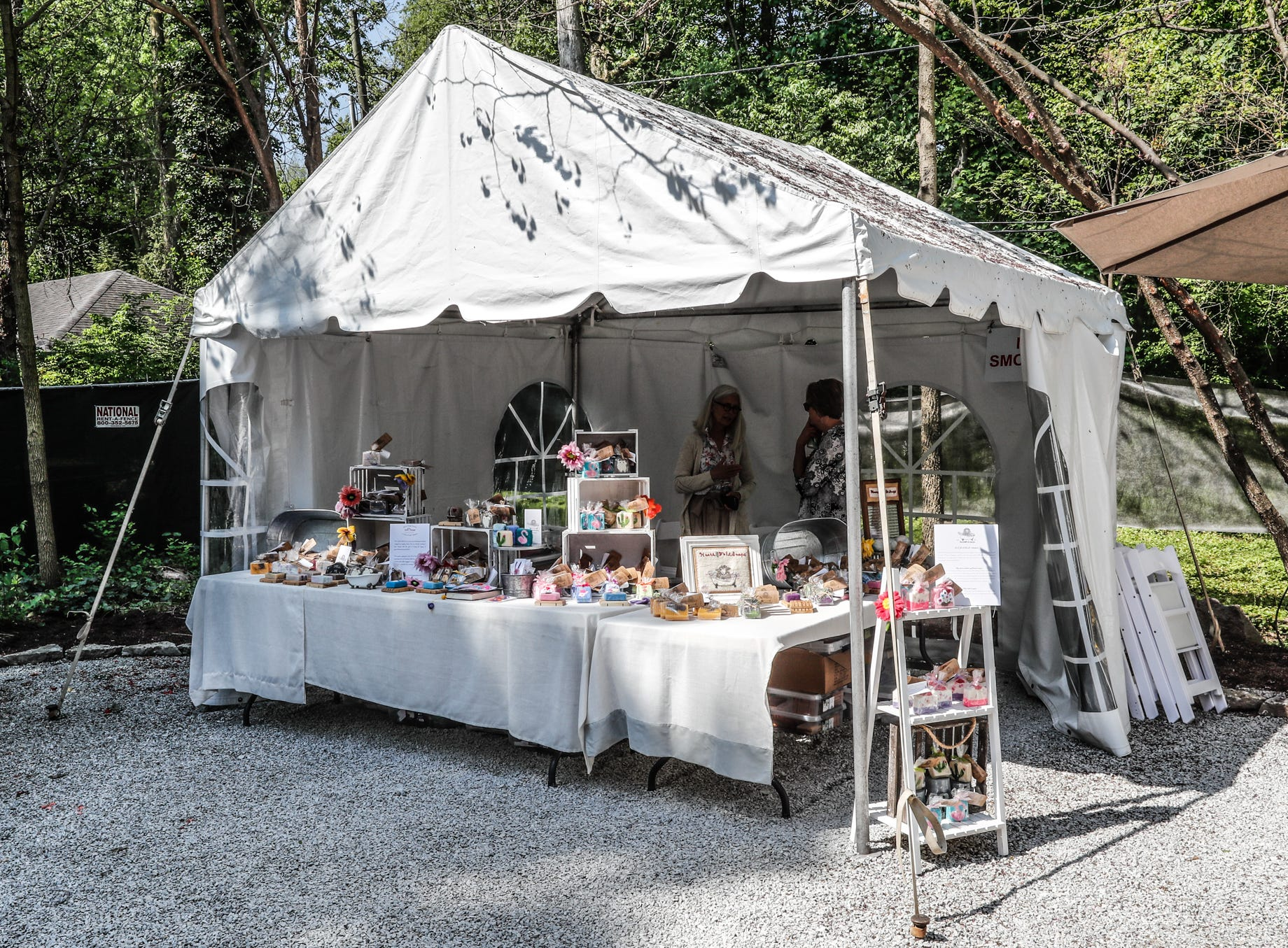 The Twisted Sisters pop up gift shop is located in the rear of The 58th annual St. Margaret's Hospital Guild Decorators' Show House and Gardens, located at 4160 Washington Blvd., Indianapolis, on Wednesday, May 8, 2019.