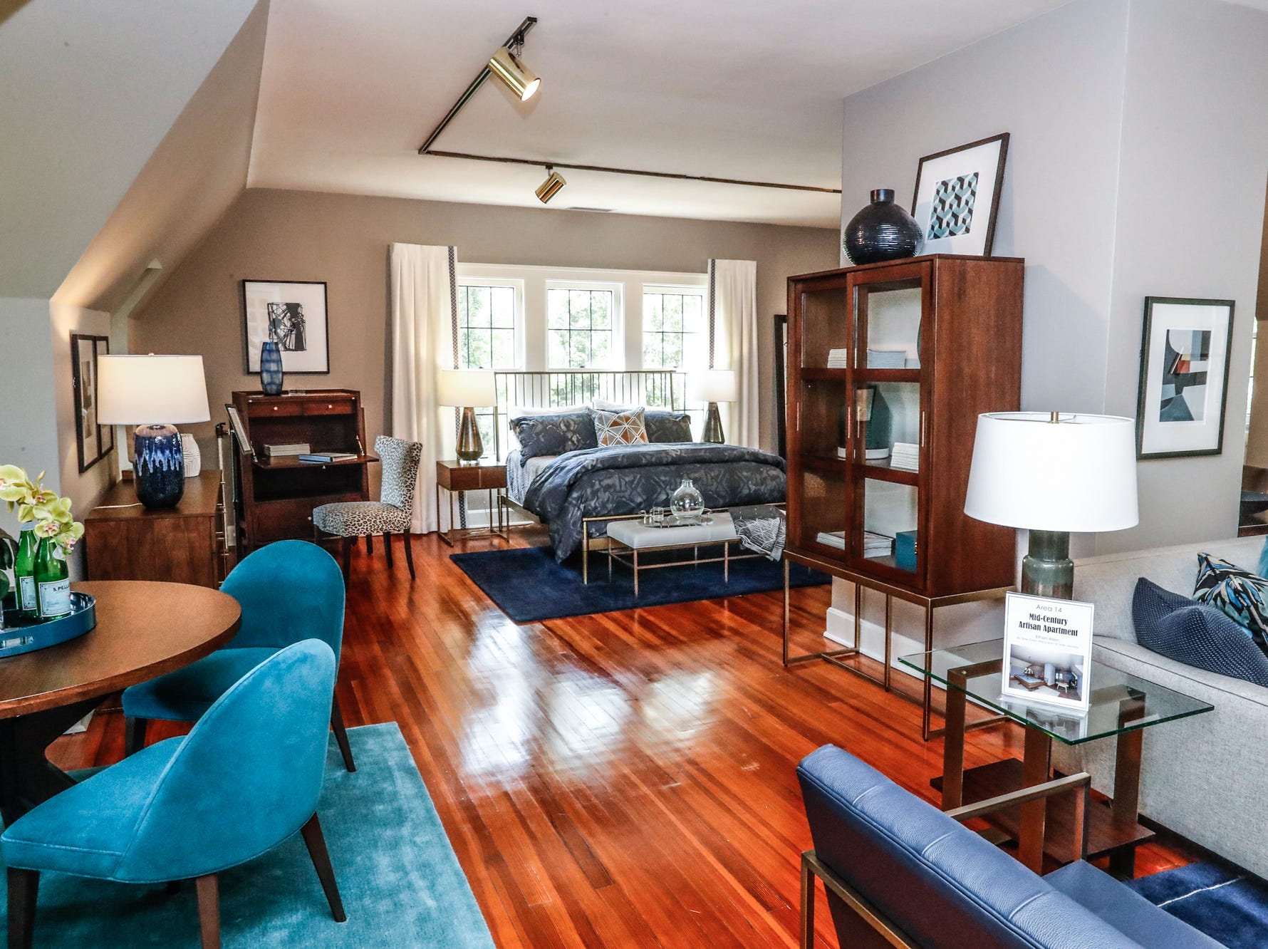 """The """"Mid-Century Artisan Apartment"""", designed by Susie Clase, Mary Larson, and Linda Denney, of Ethan Allen inside The 58th annual St. Margaret's Hospital Guild Decorators' Show House and Gardens, located at 4160 Washington Blvd., Indianapolis, on Wednesday, May 8, 2019."""