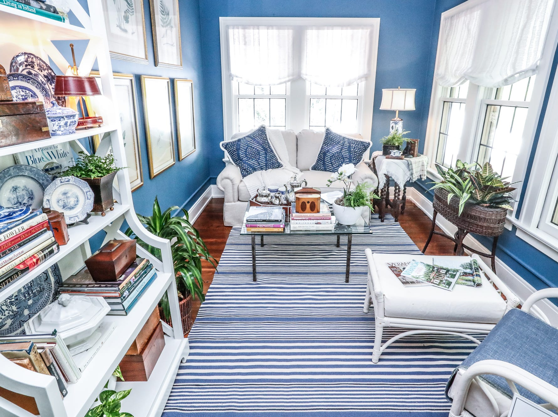 """The """"Morning Room"""", designed by Rosalind Brinn Pope Interior Design, inside The 58th annual St. Margaret's Hospital Guild Decorators' Show House and Gardens, located at 4160 Washington Blvd., Indianapolis, on Wednesday, May 8, 2019."""
