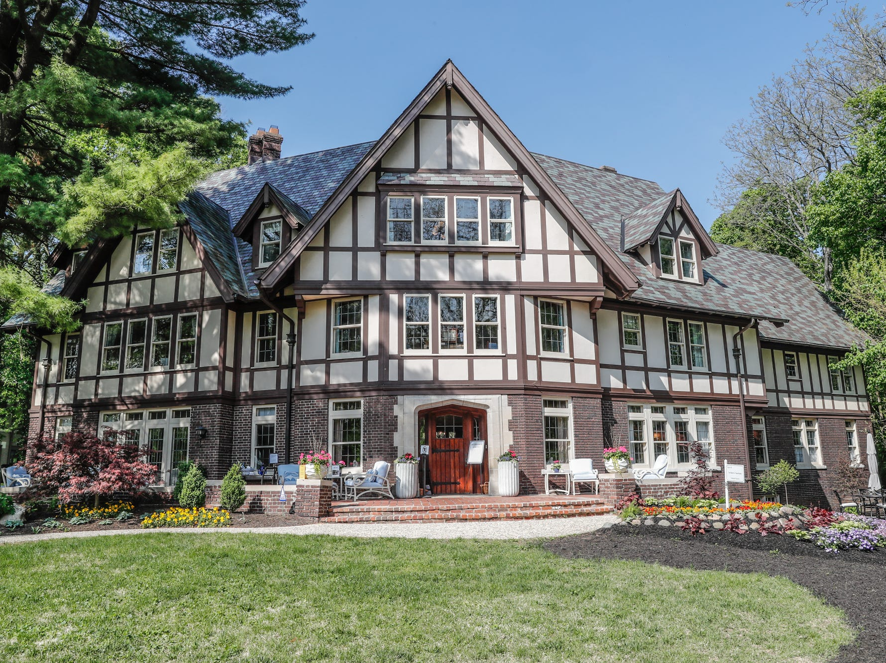 The 58th annual St. Margaret's Hospital Guild Decorators' Show House and Gardens, located at 4160 Washington Blvd., Indianapolis, on Wednesday, May 8, 2019. The Tudor Revival home, 9,163 square feet, was also a Decorator's Show House in 1980. Built in 1919 by Clark E. Mallery and Roberta Spellman Mallery, who was a cofounder of the American Garment Company.