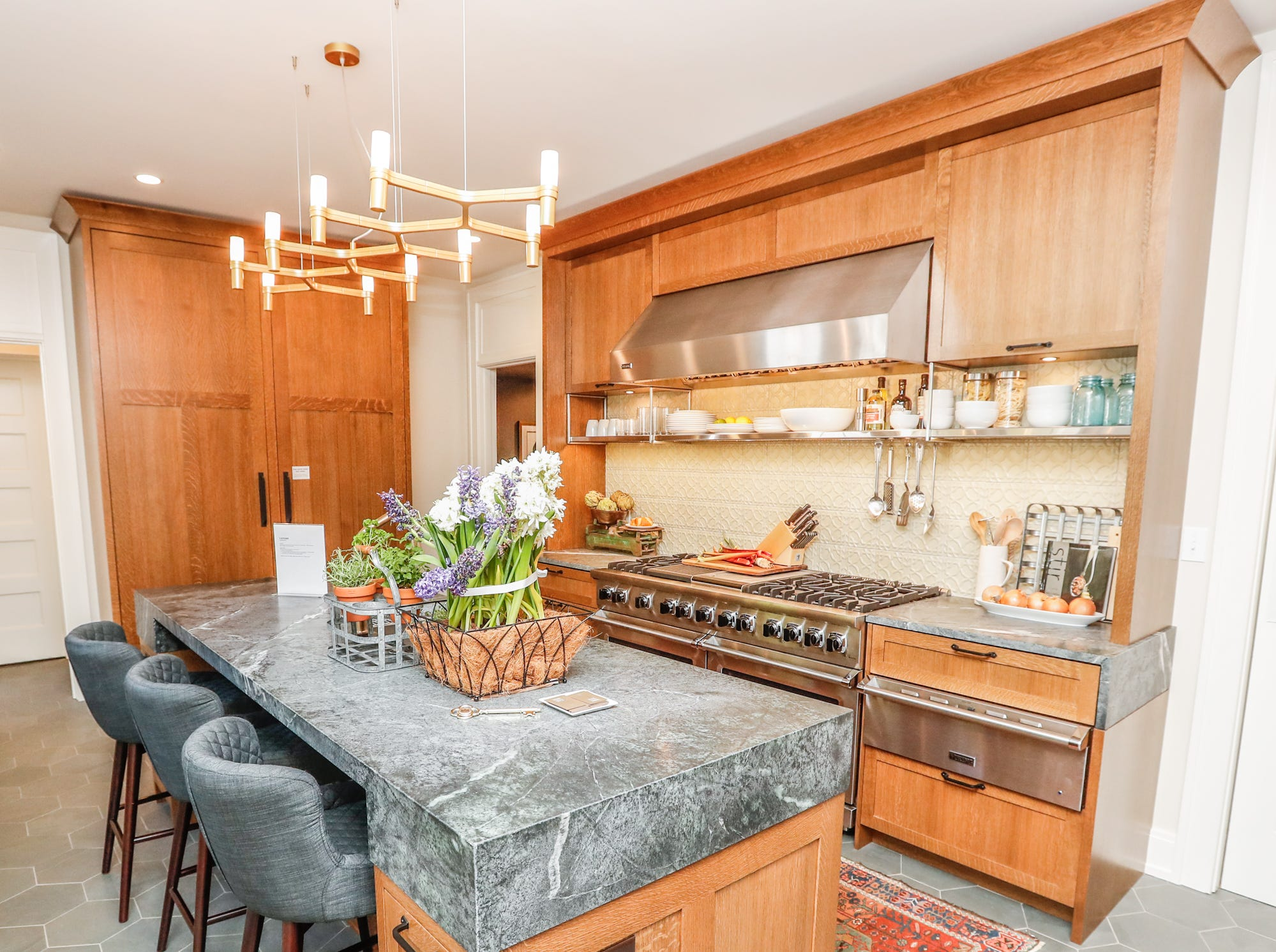 """The """"Kitchen"""" designed by Matthew Harries, of MW Harris, LLC, inside the The 58th annual St. Margaret's Hospital Guild Decorators' Show House and Gardens, located at 4160 Washington Blvd., Indianapolis, on Wednesday, May 8, 2019."""