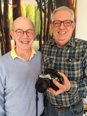 After growing up in the same Philadelphia suburb, Ted Robinette, left, and David Blake find themselves living in Trumansburg. They were united thanks to a camera once owned by David's father.