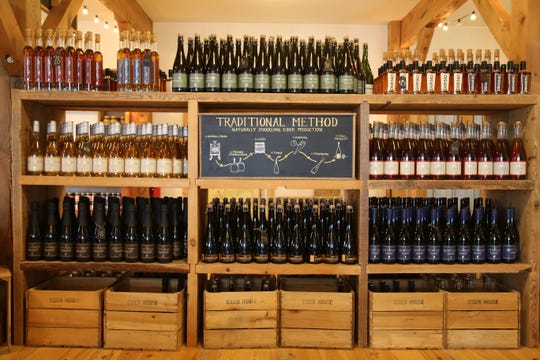 Finger Lakes Cider House sells a variety of different apple products, including ciders, jams, apple butters, sodas and vinegars.