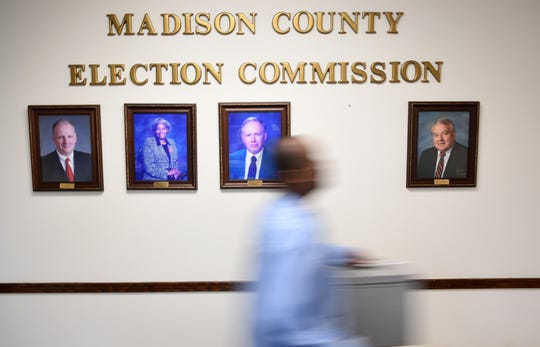 Voting machines have begun to come in to the Madison County Election Commission for the 2019 Jackson Mayoral and City Council election, Tuesday, May 7.