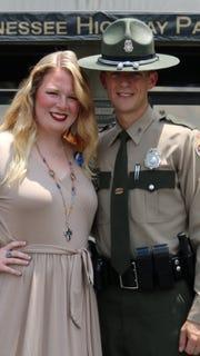Fallen Trooper Matthew Gatti poses in his THP uniform with his wife Anna Lax Gatti. Matthew Gatti was killed in the line of duty in a car crash on Monday.