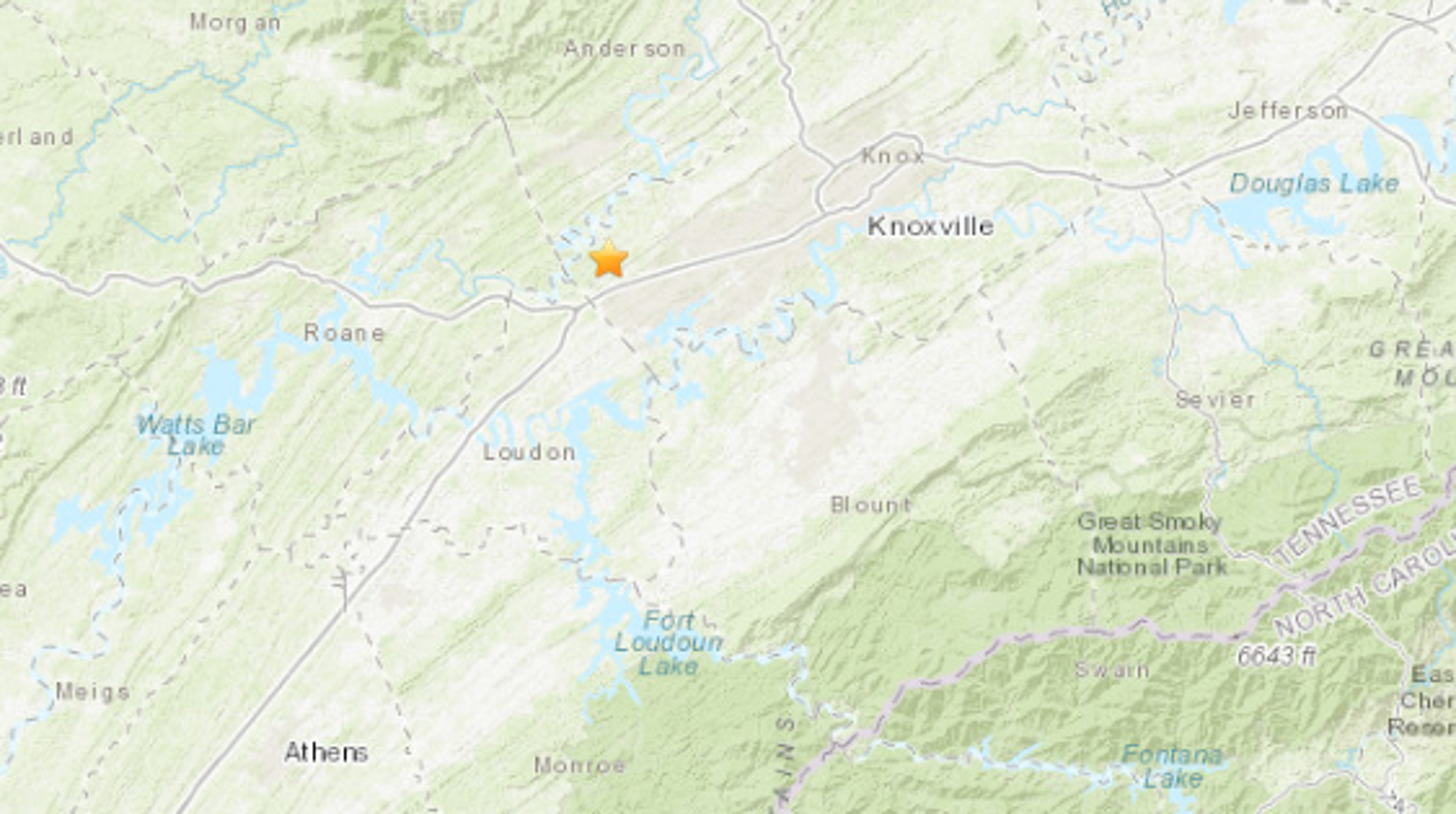 Earthquake Rattles Farragut Area