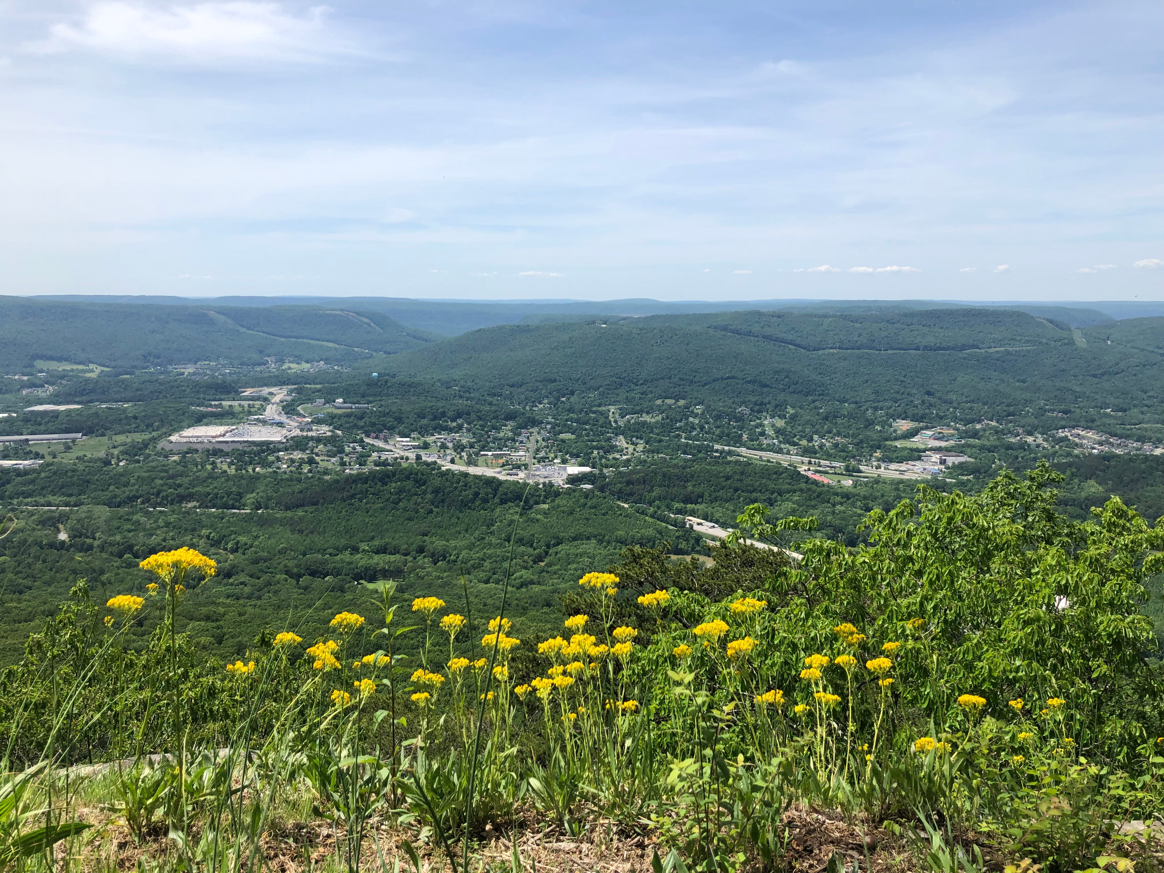 This is a view across Lookout Valley and the flat-topped ridges of the Cumberland Plateau at Point Park in Chattanooga. Photographed May 7, 2019