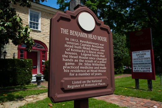 Outside the Benjamin Head House In the Middletown neighborhood. May 8, 2019