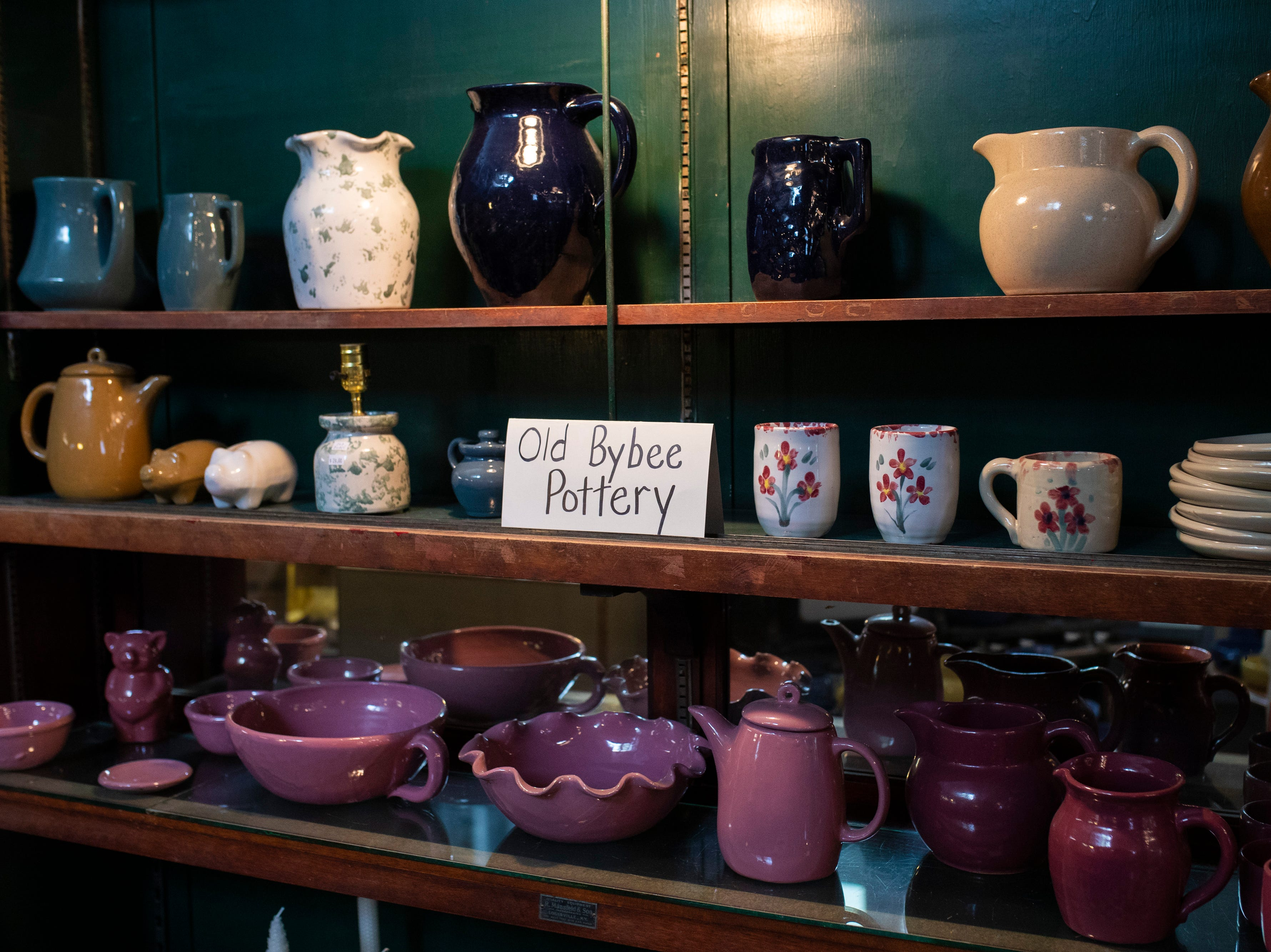 Potter for sale inside the Little Bit of Bybee pottery shop in the Middletown neighborhood. May 8, 2019