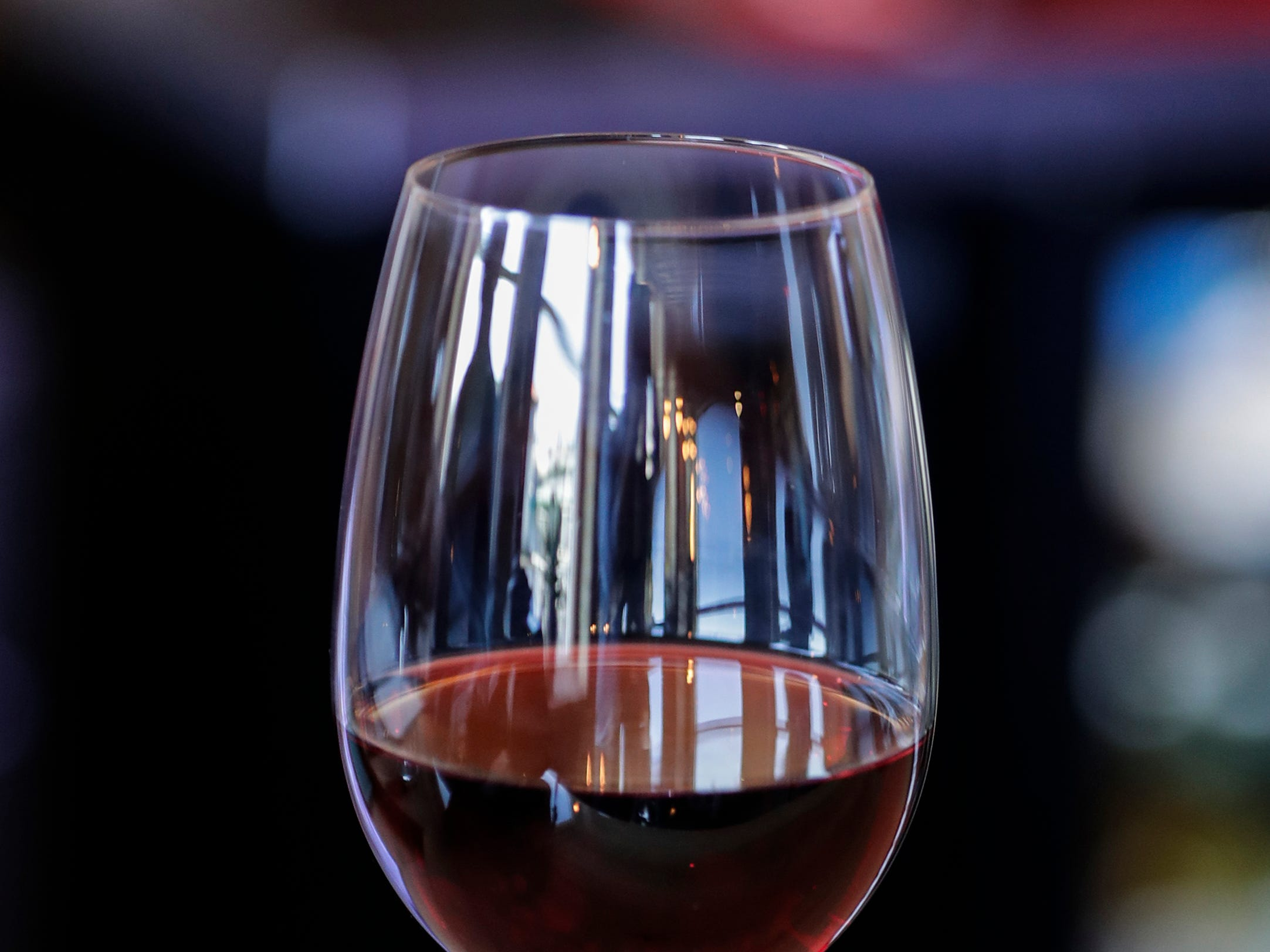 A glass of wine at the Waterfront Wine Bar Saturday, May 4, 2019, in Manitowoc, Wis. Joshua Clark/USA TODAY NETWORK-Wisconsin