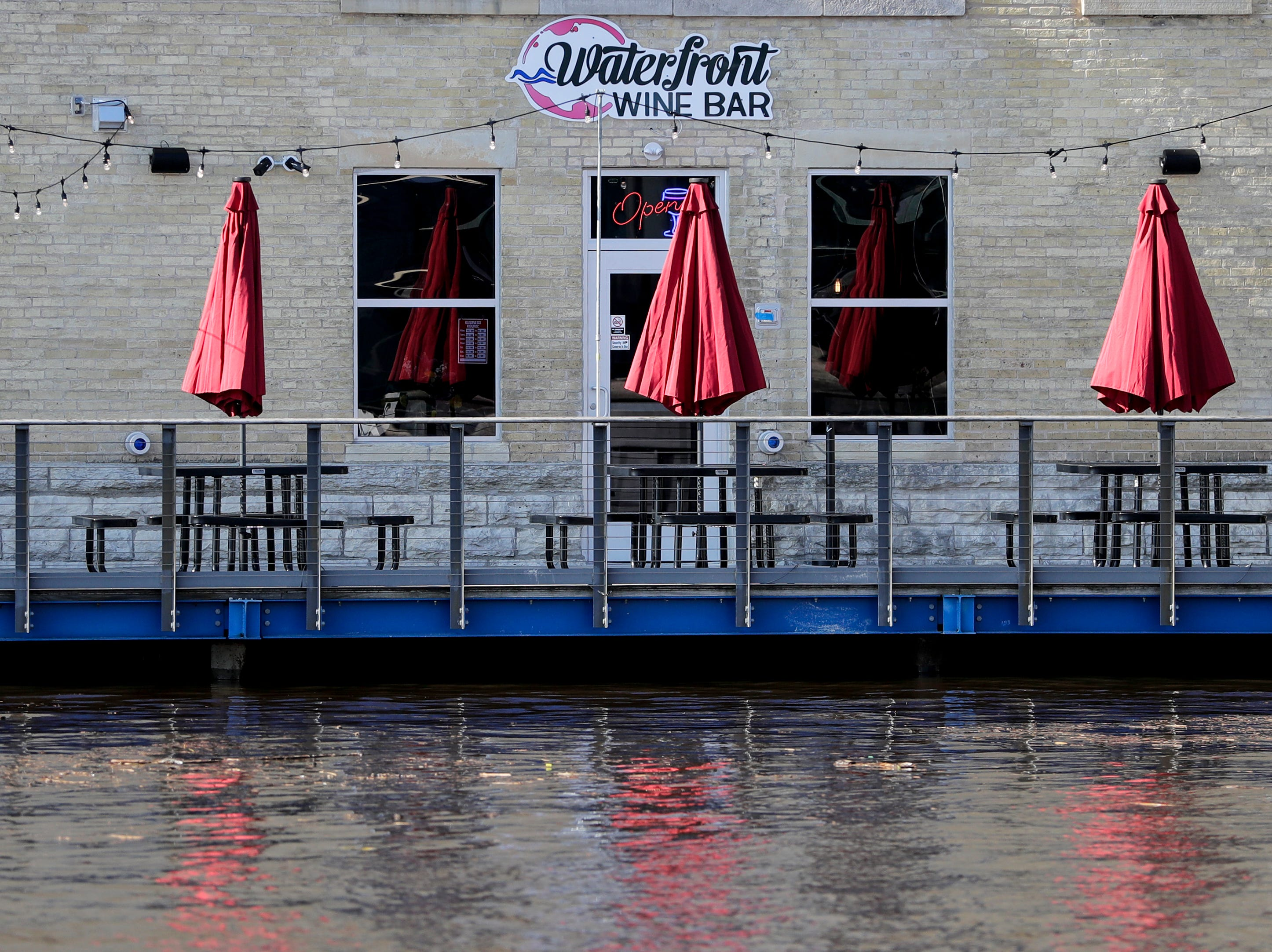 The patio at the Waterfront Wine Bar Saturday, May 4, 2019, in Manitowoc, Wis. Joshua Clark/USA TODAY NETWORK-Wisconsin