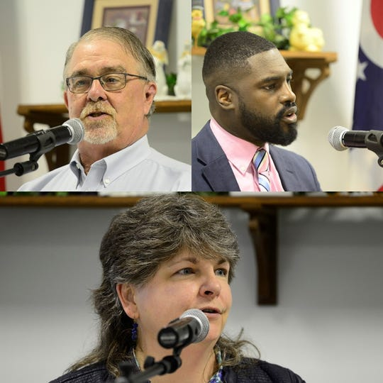 Phil Scott (left), Alomar Davenport and Jean Taddie (bottom), posted comfortable wins in their Democratic primaries for three seats on Mansfield City Council.