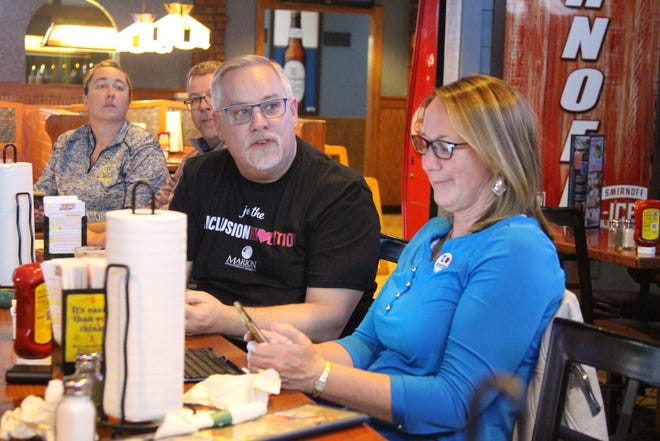 Cheryl Plaster, superintendent of the Marion County Board of Developmental Disabilities, looks at the results of Tuesday's election. The 1.7-mill levy that the board put on the ballot was headed for a narrow loss.