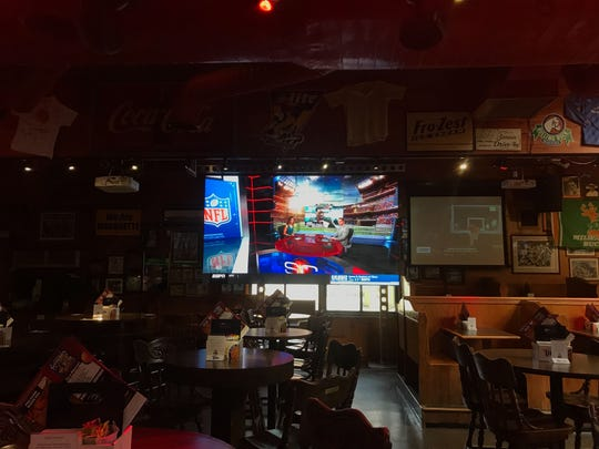 Major Goolsby's installed a 12-foot-long screen on May 2. They are one of the latest bars to install a display over 10 feet long.