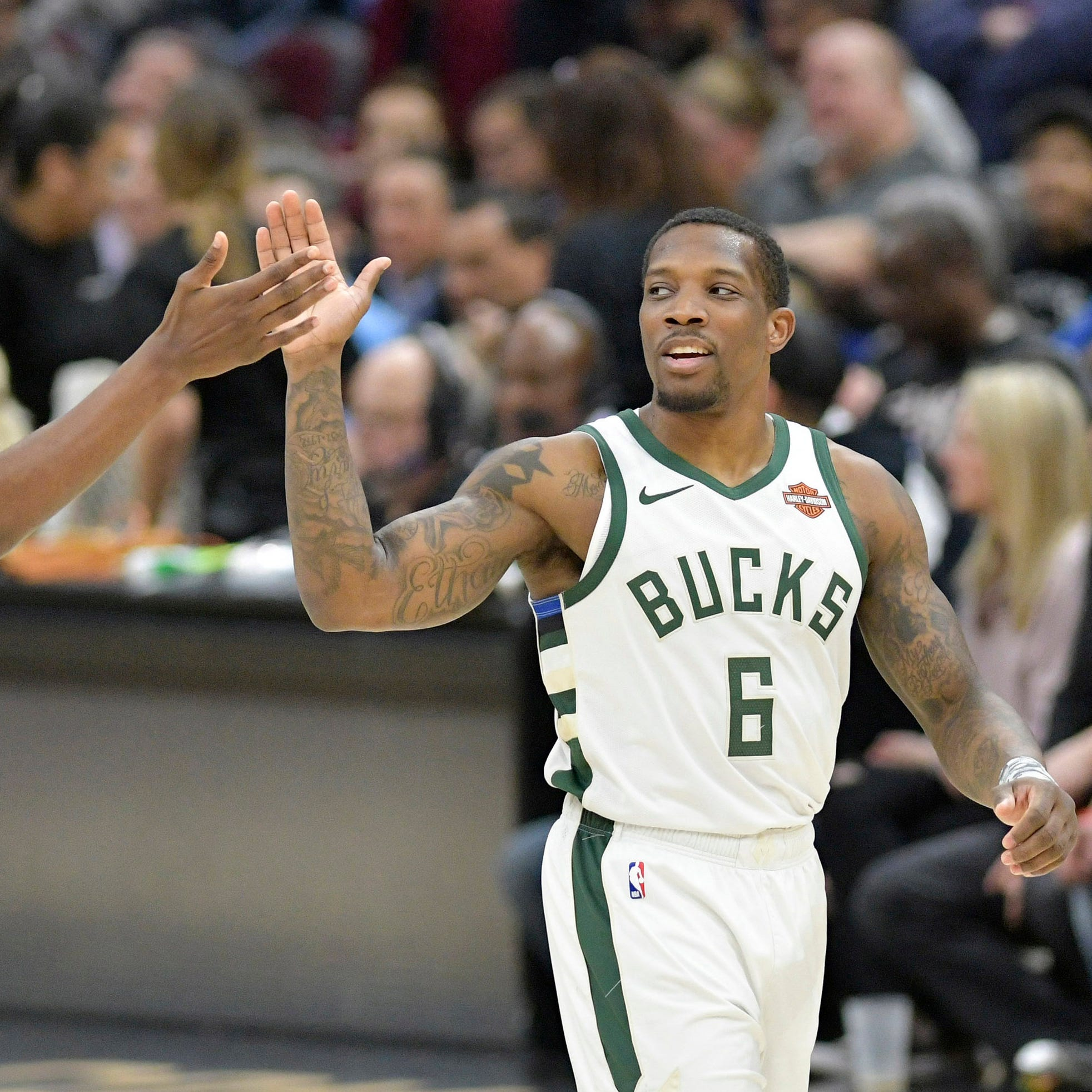 Eric Bledsoe hasn't stood out against Celtics, but he's getting advice from Khris Middleton, support from teammates