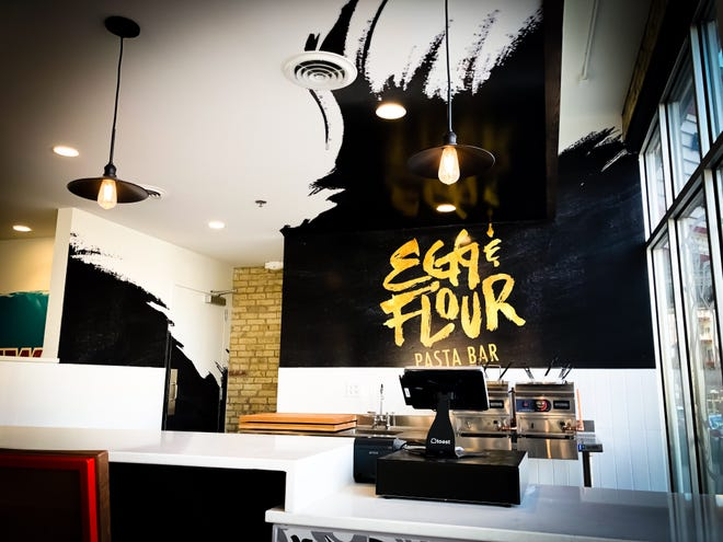 Chef Adam Pawlak's Egg & Flour Pasta Bar will be at Stall No. 1 in Crossroads Collective food hall when it opens May 14.