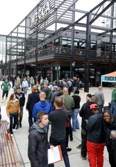 Mecca Sports Bar and Grill, which opened recently, had a full house with fans waiting in line before the Milwaukee Bucks-Boston Celtics NBA playoff game Wednesday.