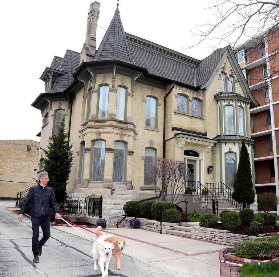 This Milwaukee mansion built in 1876, later converted to offices, has now been remodeled back into a home