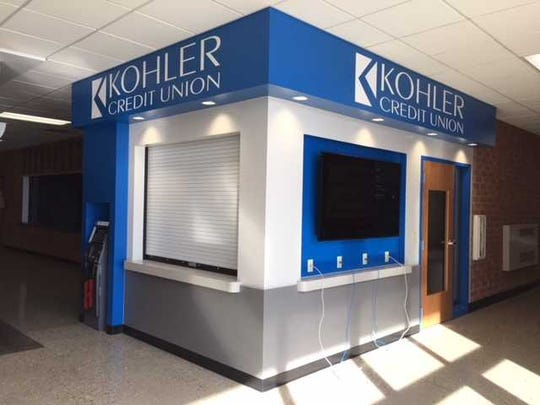 A branch of Kohler Credit Union resides in Homestead High School. The school could be getting a more identifiable visitor entrance, along with having its administrative offices relocated to have direct access from the new visitor entry if a $55.7 million referendum on the April 7 ballot is passed by voters.