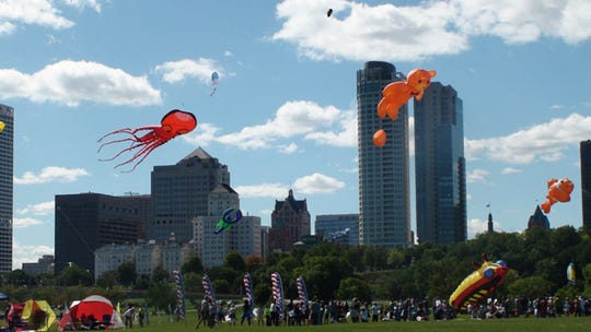 Seeing kites above the lakefront is a sign of summer in Milwaukee.