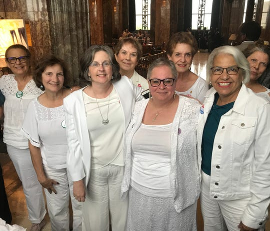 A group of women were in the Louisiana Senate chamber Wednesday to support a bill to ratify the Equal Rights Amendment. The bill was defeated 26-9.