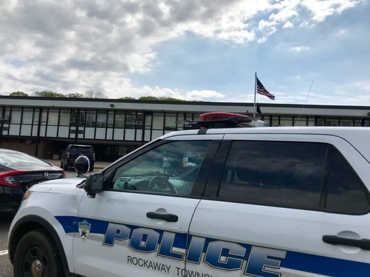 Rockaway Township Police Department investigates a possible threat at Copeland Middle School on May 8.