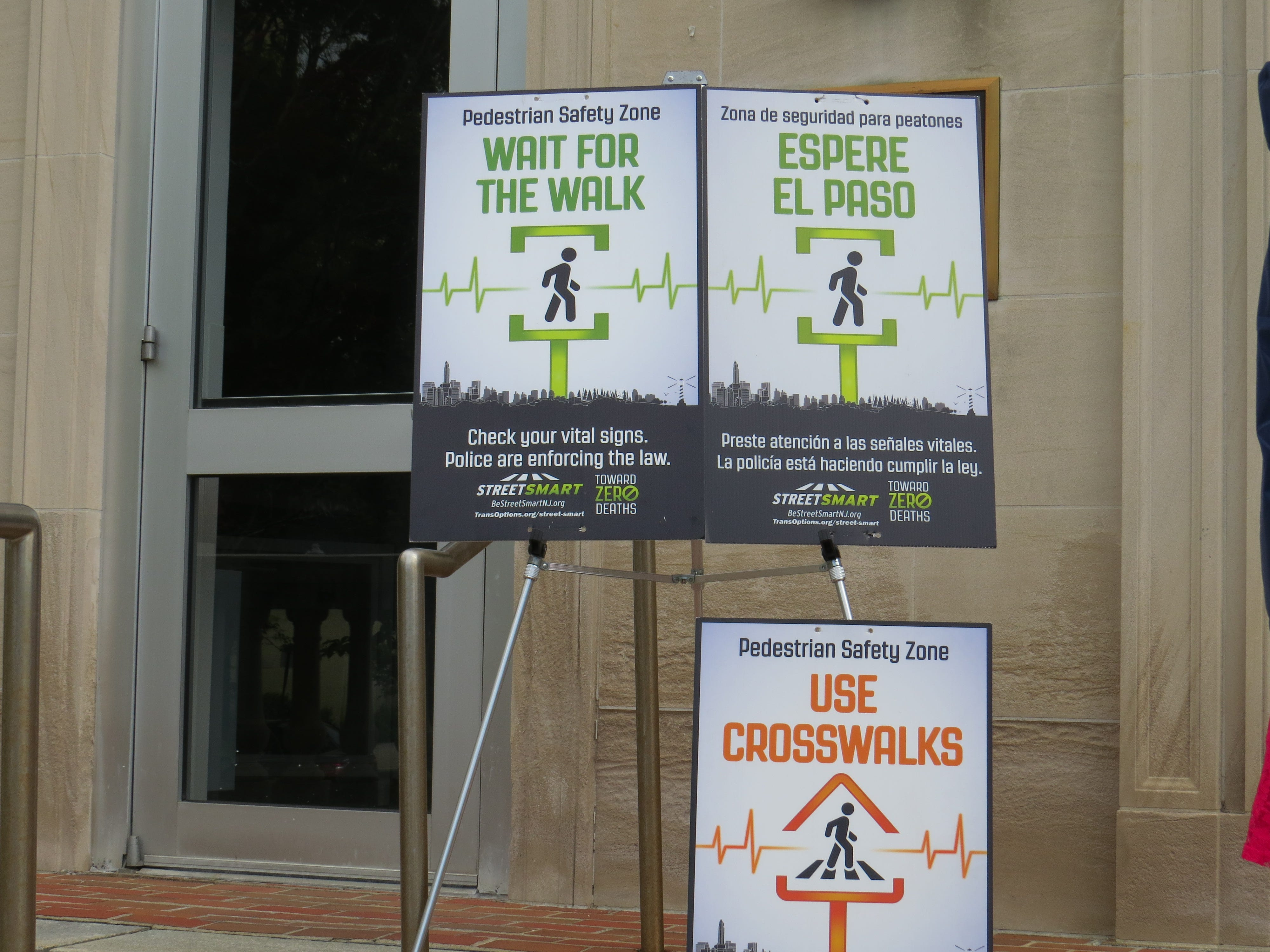 Morristown and TransOptions announce the launch of a new Street Smart pedestrian safety campaign outside town hall in Morristown. May 8, 2019