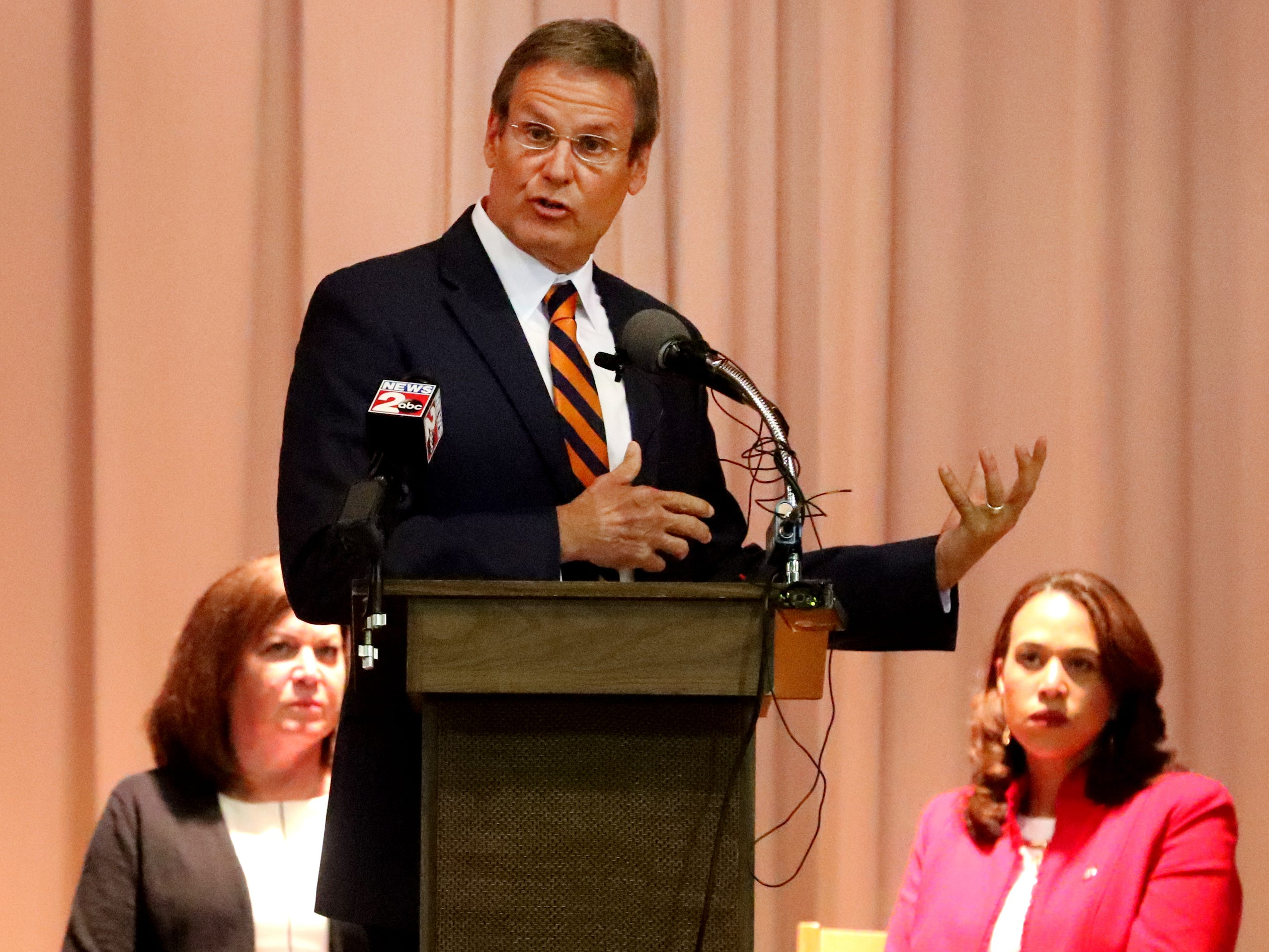 Tennessee Governor Bill Lee speaks during a CVS/TRC-Smyrna Mock Store Grand Opening Ceremony on Wednesday, May 8, 2019, at the Tennessee Rehabilitation Center, in Smyrna.