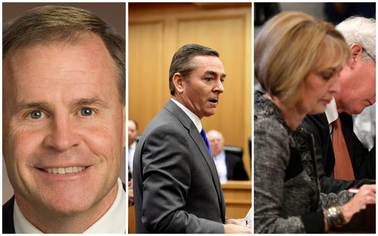Rep. Bill Dunn, R-Knoxville; House Speaker Glen Casada, R-Franklin; and Rep. Patsy Hazlewood,  R-Signal Mountain
