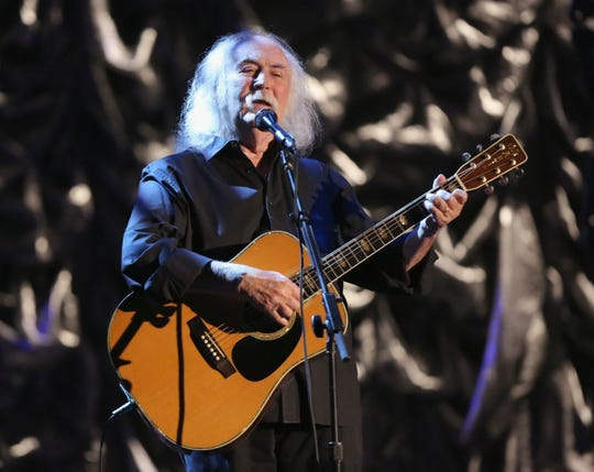 David Crosby performs onstage during the International Myeloma Foundation's seventh Annual Comedy Celebration Benefiting The Peter Boyle Research Fund hosted by Ray Romano at The Wilshire Ebell Theatre on Nov. 9, 2013. in Los Angeles.