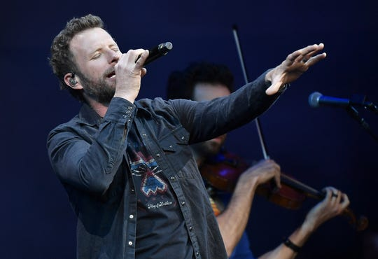 Dierks Bentley performs after the conclusion of the 2019 NFL Draft  Saturday, April 27, 2019 in Nashville, Tenn.