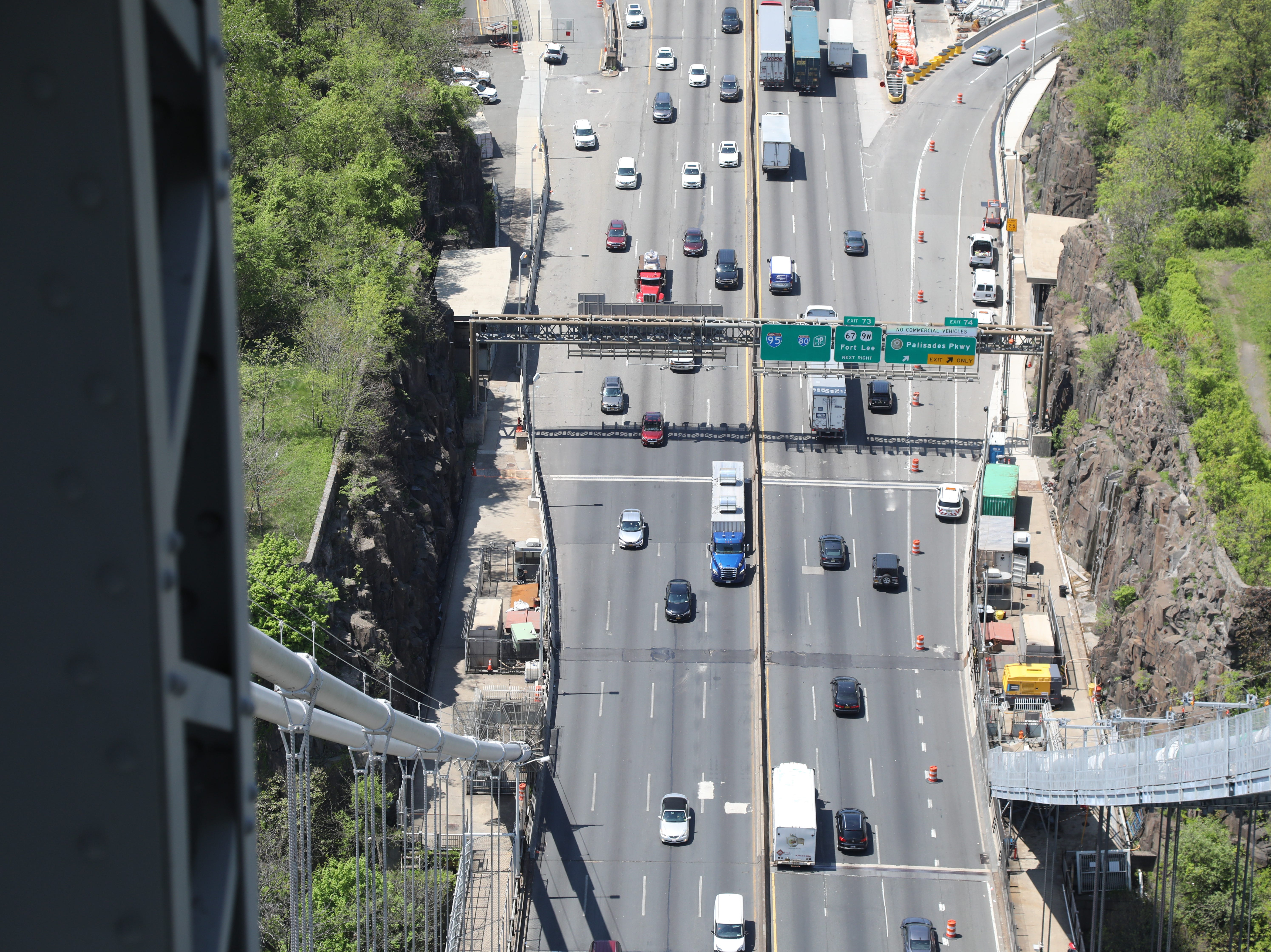 The roadway as seen from the the west tower.
