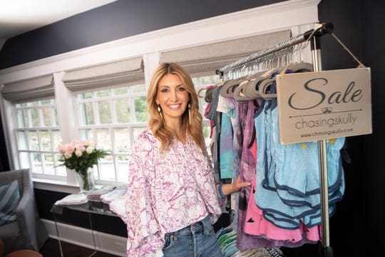 Lindsay Skulnik the founder of ChasingSkully poses for a photo in her Tenafly home on Tuesday April 9, 2019.