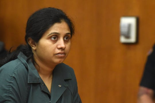 Hiralbahen Bhavsar, 29, of Little Ferry is charged with killing her 5-day-old daughter. Bhavsar plead not guilty to the charges during her first court appearance in Bergen Superior Court on Wednesday, May 8, 2019.