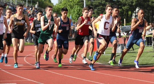 Passaic's Luis Peralta, right, hopes to become the first North Jersey athlete to win back-to-back races in an event over 200 meters in just under two decades.