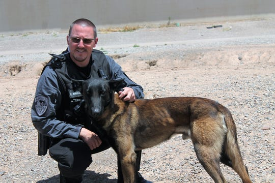 APD Officer Cristoph Wallenstein and K-9 Odin in May 2019