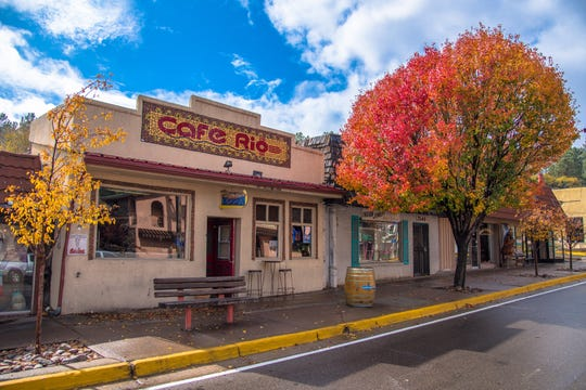 Midtown Ruidoso in bloom brings color to the village during fall. Many trees and plants provided beautiful changing colors year round.