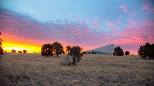 The Spencer Theater in Alto, just a few miles north of Ruidoso, during Sunset offers a spectacular view of the endless skies. The theater is host to concerts, ballets, and special events.