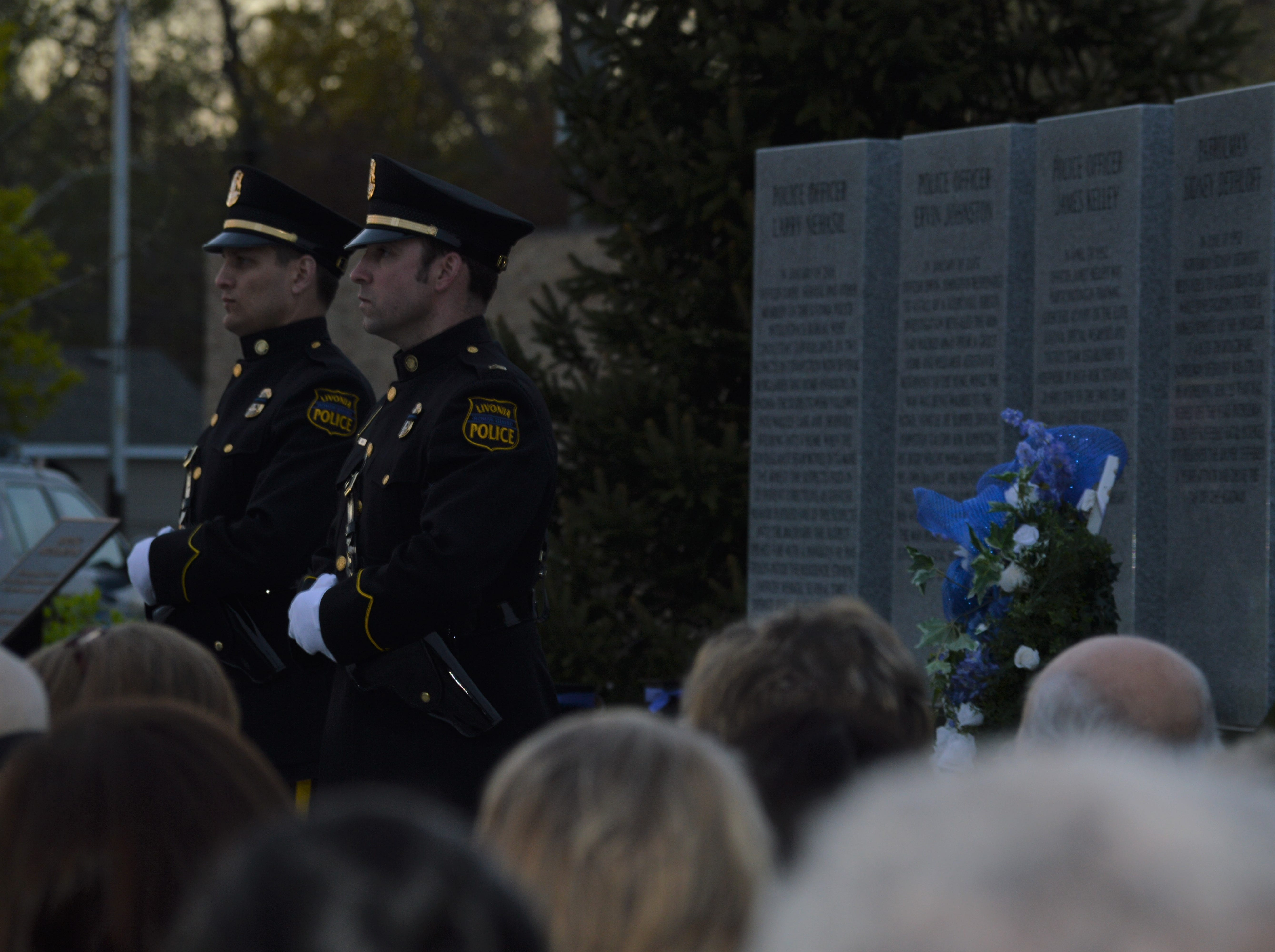 Hundreds of community members turned out for the fifth annual Livonia Police Memorial Ceremony.