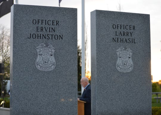 Robert Stevenson, executive director of the Michigan Association of Chiefs of Police, was the keynote speaker at the fifth annual Livonia Police Memorial Ceremony.