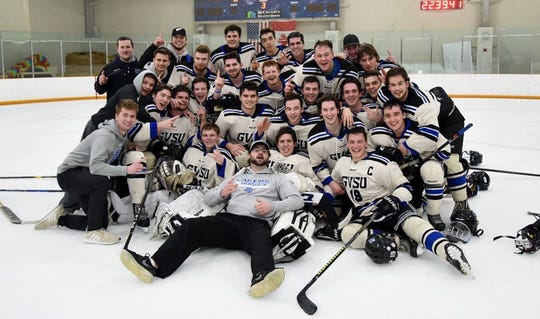 The Grand Valley State club hockey team reached the D-3 championship game.