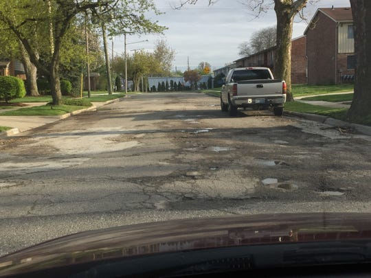 This stretch of Dewey Street in Plymouth is screaming for some work.