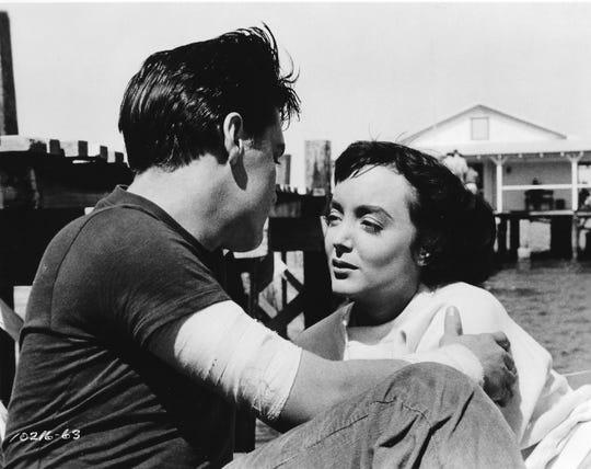 """Elvis Presley and Carolyn Jones star in """"King Creole."""""""