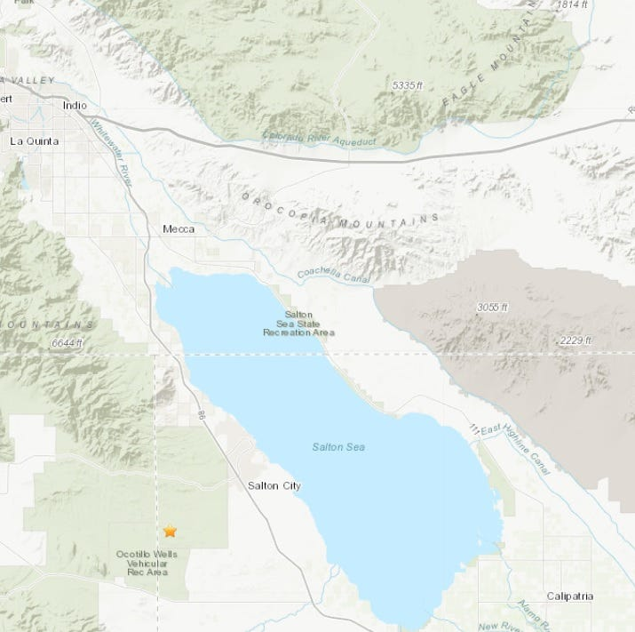 Back-to-back quakes rattle areas near Salton Sea