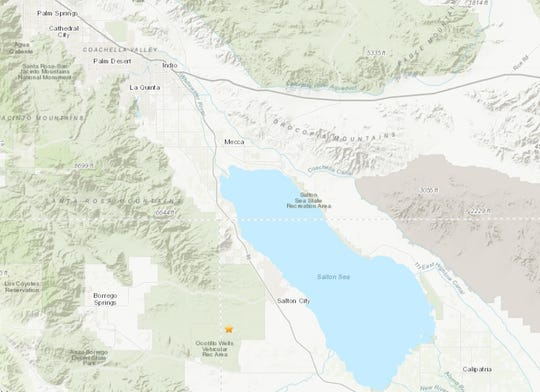 A 3.4 magnitude earthquake struck to the southwest of the Salton Sea on Wednesday morning, May 8, 2019.