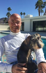 Alain Pinel and dog Bruno