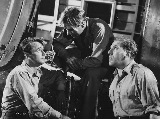 "Alan Ladd, John Whitney and William Bendix star in ""Calcutta."""